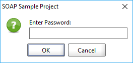 The Project Password dialog