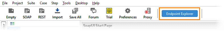 The Endpoint Exlorer buton on the main toolbar