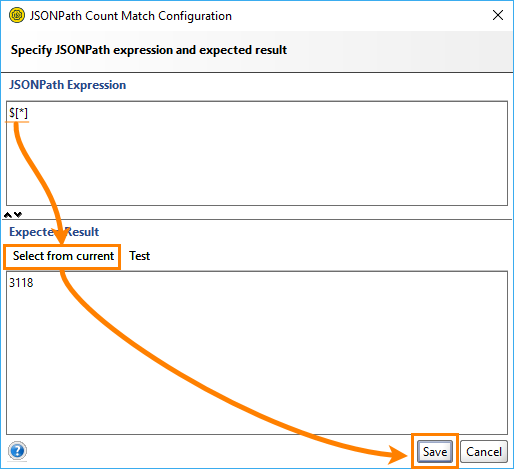 JSONPath count match configuration