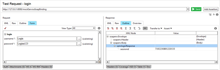 SoapUI Pro Outline and Form panels